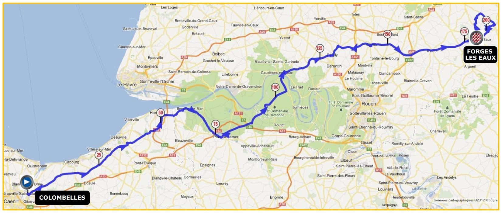Tour de normandie braysports for Piscine forges les eaux