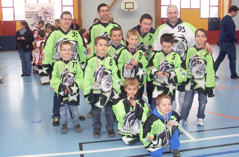 rollers hockey mini bray warrios>