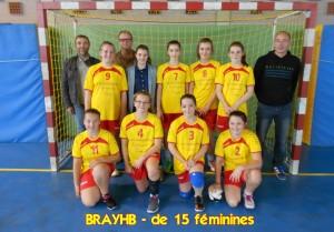 - de 15 féminines BRAYSPORTS