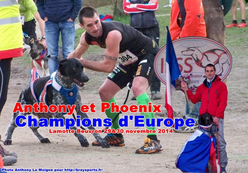 anthony lemoigne et phoneix champion d'europe 2014