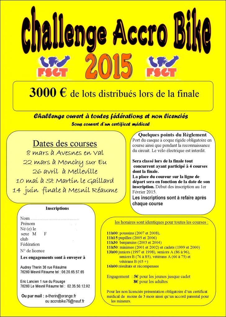 affiche challenge 2015