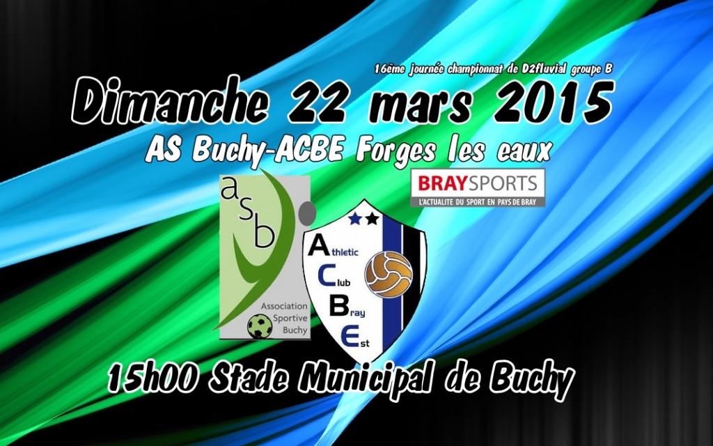 affiche AS Buchy ACBE Forges les eaux