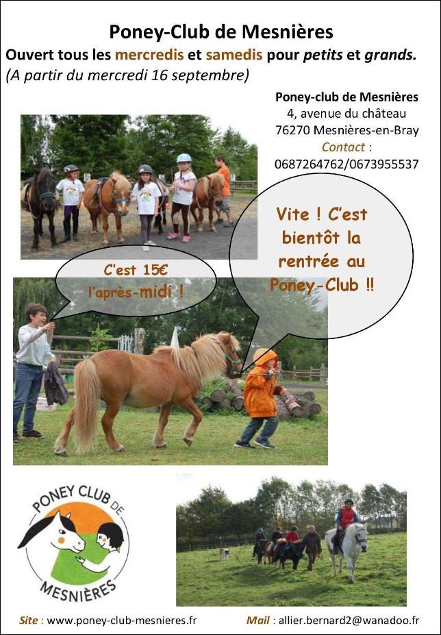 reprise poney club mesnières 2015