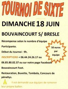 LE COIN DES TOURNOIS DE SIXTE