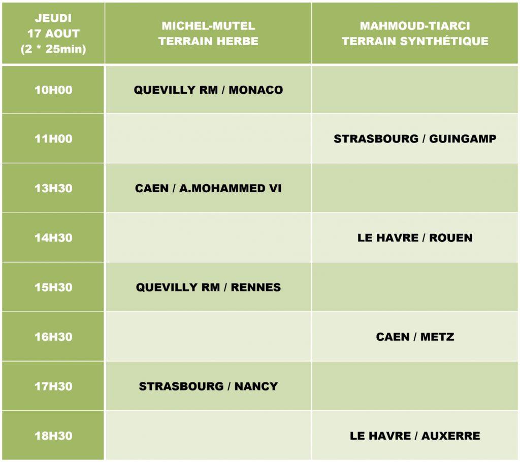 PROGRAMME TOURNOI U17 QRM