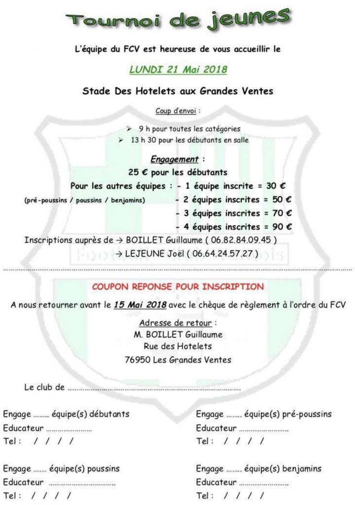 TOURNOI JEUNES FC VENTOIS