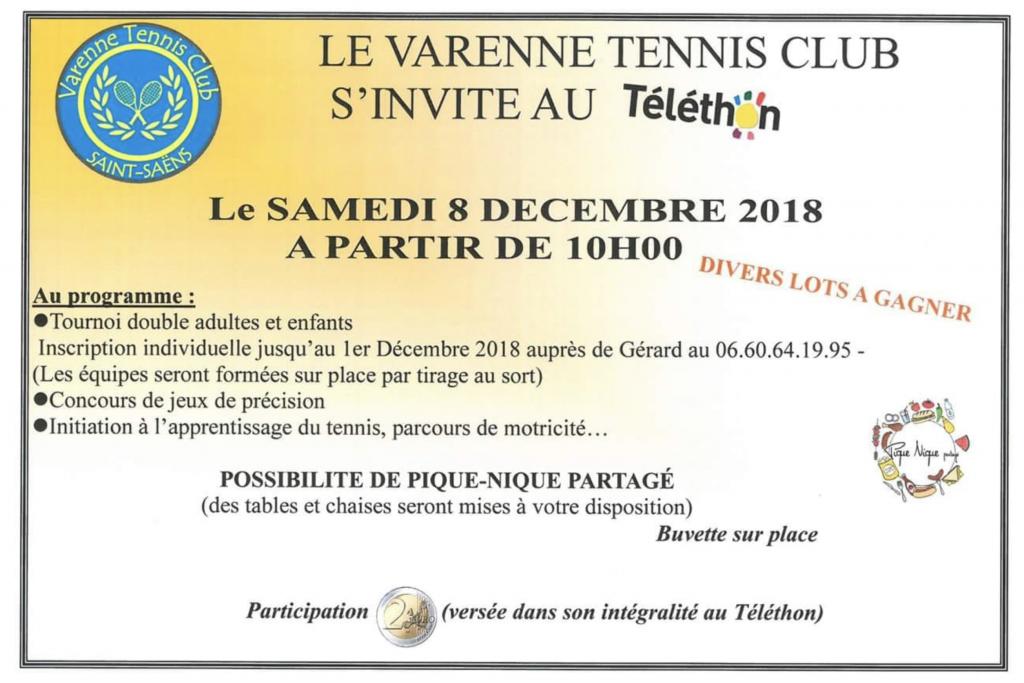 TOURNOI TENNIS TELETHON