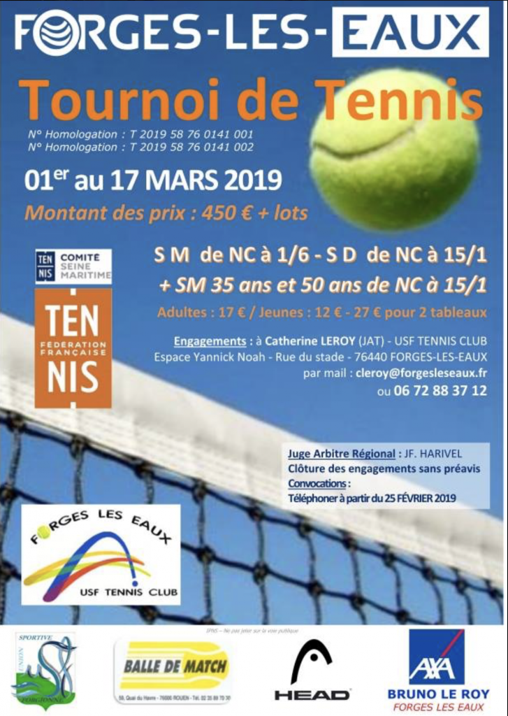 TOURNOI TENNIS FORGES