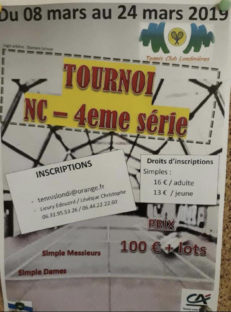 TOURNOI TENNIS LONDINIERES